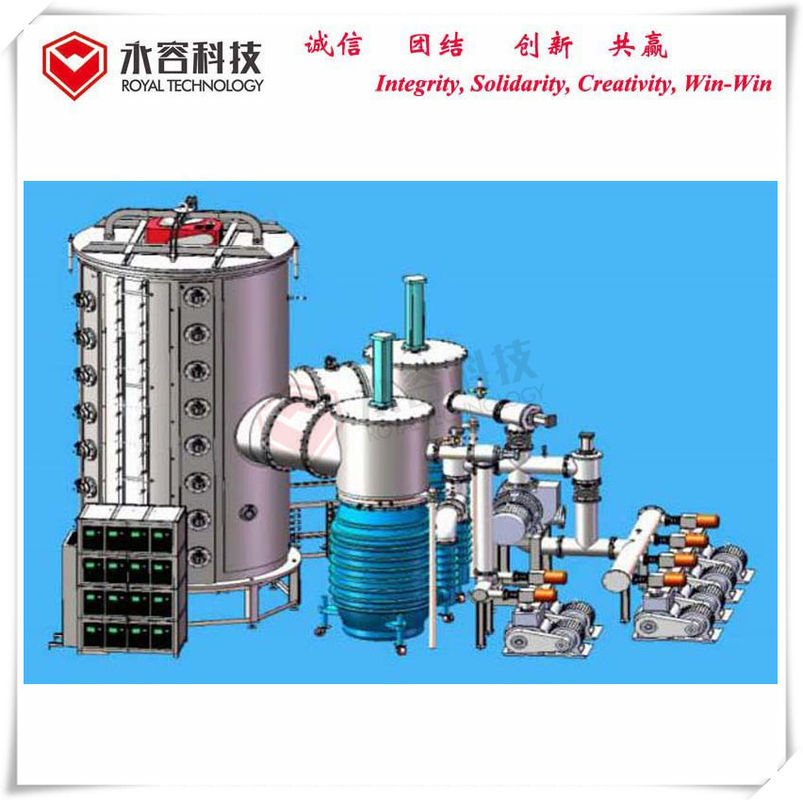Stainless Steel Sheets Vacuum Coating Equipment , Large size SS sheets Multi Arc Coating Machine